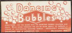 #ZBOT056 - Dancing Bubbles Label for Toy Bubbles jar