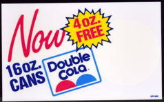 #SOZ072  - Larger 1970s Double Cola Decal