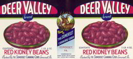 #ZLCA096 - Deer Valley Red Kidney Beans Label