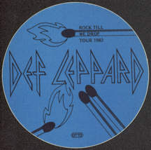 #MUSIC796 - Round 1983 Def Leppard OTTO Cloth Backstage Pass from the Rock Till We Drop Tour