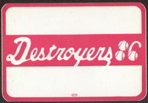 #MUSIC045  - 1986 Destroyers (George Thorogood) Cloth OTTO Backstage Pass