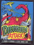 #ZZA066 - Wax Pack of 1988 Dinosaurs Attack