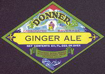 #ZLS122 - Donner Ginger Ale Label with Sledders and Snow Shoes