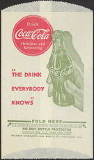 #CC200 - Coca Cola Dry Server with the Hand Holding the Bottle