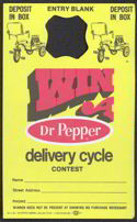 #SOZ042 -  Dr Pepper Win a Delivery Cycle Bottle Hanger