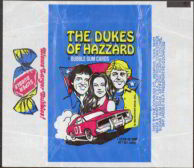 #ZZA005 - Dukes Of Hazzard  First Series Waxed Trading Card Wrapper