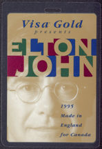#MUSIC500 - 1995 Elton John Laminated Backstage Pass from the Made in England Tour