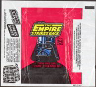#ZZA084 - 1980 Star Wars Empire Strikes Back Waxed Trading Card Wrapper - Black and Red