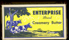 #DA046 - Enterprise Creamery Butter Box with Cows and Land O' Lakes Mark