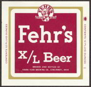 #ZLBE042 - Fehr's X/L Beer Label