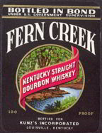 #ZLW101 - Fern Creek Bourbon Whiskey Label