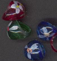 #MSH016 - Hand Painted Hippie Era Flower Power Rings