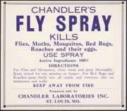#ZBOT083- Chandler Fly and Bed Bug Spray Label