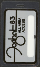 #MUSIC482 - 1983 Foghat Laminated Backstage Pass from the Triumph Tour