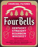 #ZLW086 - Four Bells Kentucky Bourbon Whiskey Label