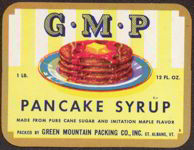 #ZBOT104 - G.M.P. Pancake Syrup Label