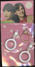 #TY257  - Carded A-go-go Earrings and Ring
