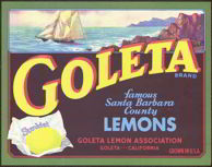 #ZLC194 - Goleta Sunkist Lemon Crate Label