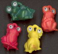 #TY341 - Set of Four Different Google Eyed Frogs