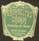 #ZBOT092 - Early Greaseless Cream Jar Label