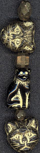 #BEADS0188 - Fantastic Black Cat Halloween Beads