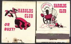 #TM085 - Harolds Club Casino (Reno) Front Cover Striker Match Packs