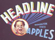#ZLC212 - Headlines Apples Crate Label