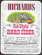 #ZLW107 - Richards Old Style Hard Cider Label