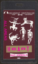 #MUSIC453  - Heart 1987 Laminated Backstage Pass from the Bad Animals Tour