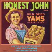 #ZLC140 - Honest John Yams Crate Label