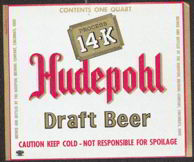 #ZLBE055 - Hudepohl 14-K Draft Beer Label