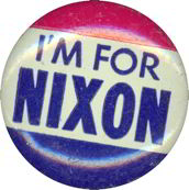 #PL165 - Red, White, and Blue I'm for Nixon Pinback