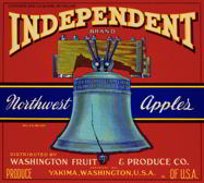 #ZLC168 - Independent Brand Apple Crate Label
