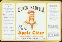 #ZBOT053 - Queen Isabella Pure Apple Cider Label