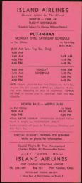#CA040 - Island Airlines Schedule Winter 1968
