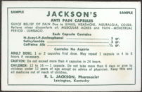 #CS172 - Sample Envelope of Jackson's Anti Pain Capsules