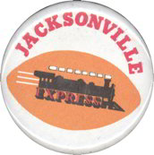 #BA044 - Pinback from the defunct WFL Jacksonville Express