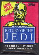 #ZZA140 - Star Wars Return of the Jedi Series 2 Blue Wax Pack