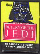 #ZZA140 - Star Wars Return of the Jedi Series 1 Red Wax Pack