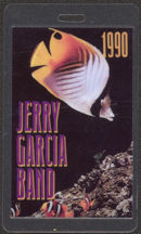 #MUSIC474 - 1990 Jerry Garcia Band Laminated Backstage Pass from the 1990 Tour