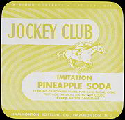 #ZLS105 - Jockey Club Pineapple Soda Bottle Label