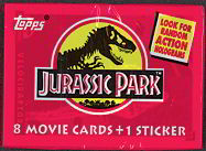 #ZZA053 - 1992 Jurassic Park Movie Topps Series 1 Card Pack