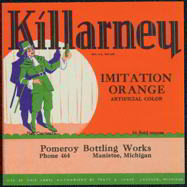 Thumbnail of Killarney Orange Soda Label, 1930s