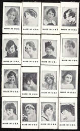 #ZZA215 - Complete Set of 16 Different Exhibit Supply Radio Cards For Single Men