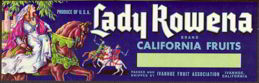 #ZLSG036 - Lady Rowena Grape Crate Label