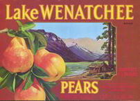 #ZLC203 - Lake Wenatchee Pear Crate Label