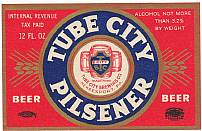 #ZLBE019 - Tube City Pilsener IRTP Beer Label