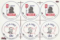 #PL200 - We Need Johnson USA Likes LBJ Button Proof Sheet