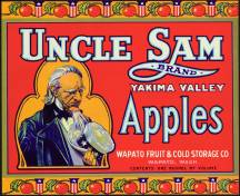 #ZLC083 - Uncle Sam Apple Crate Label - Red Version
