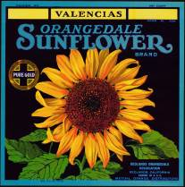 #ZLC096 - Sunflower Orange Crate Label